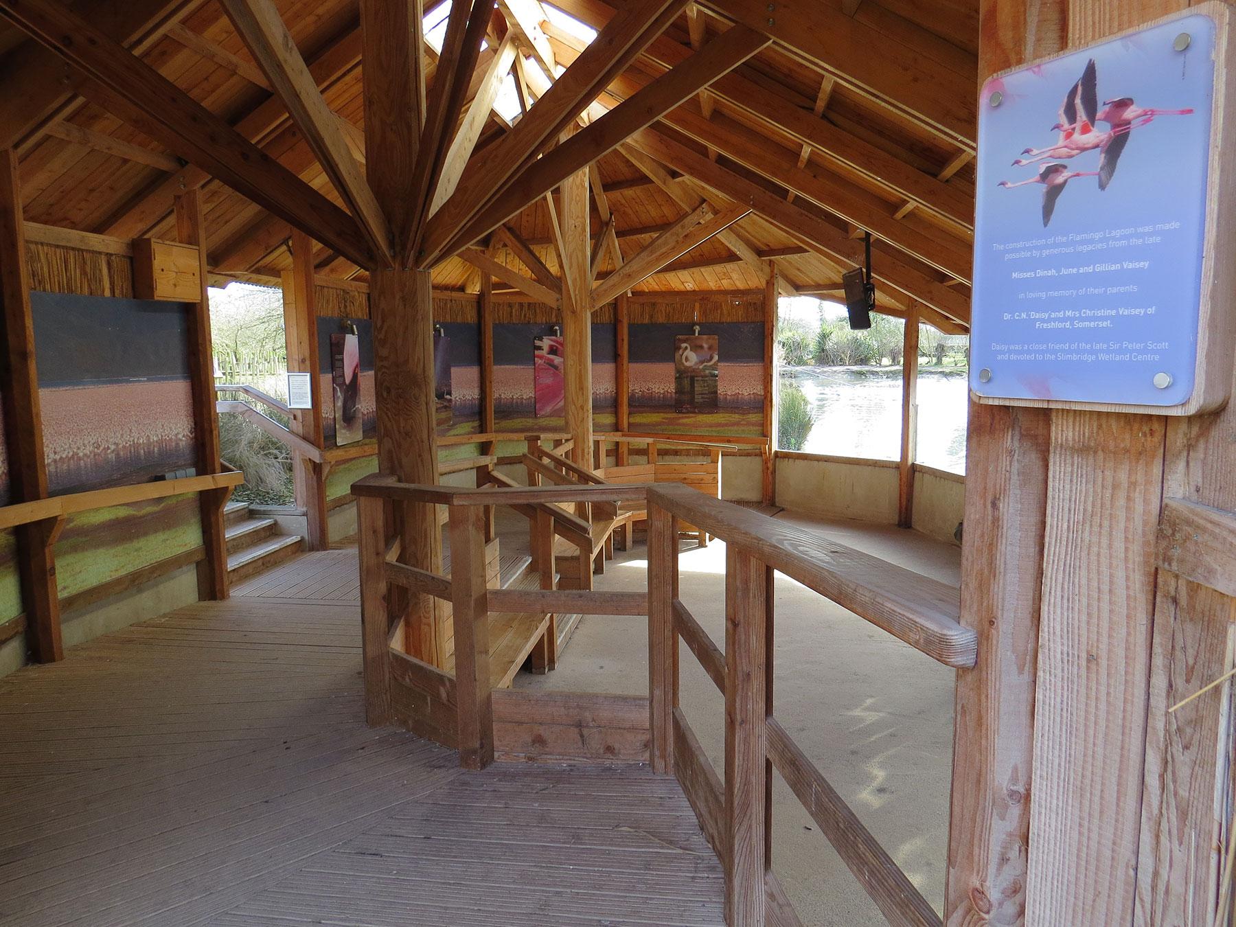 Flamingo Lagoon sunken gallery