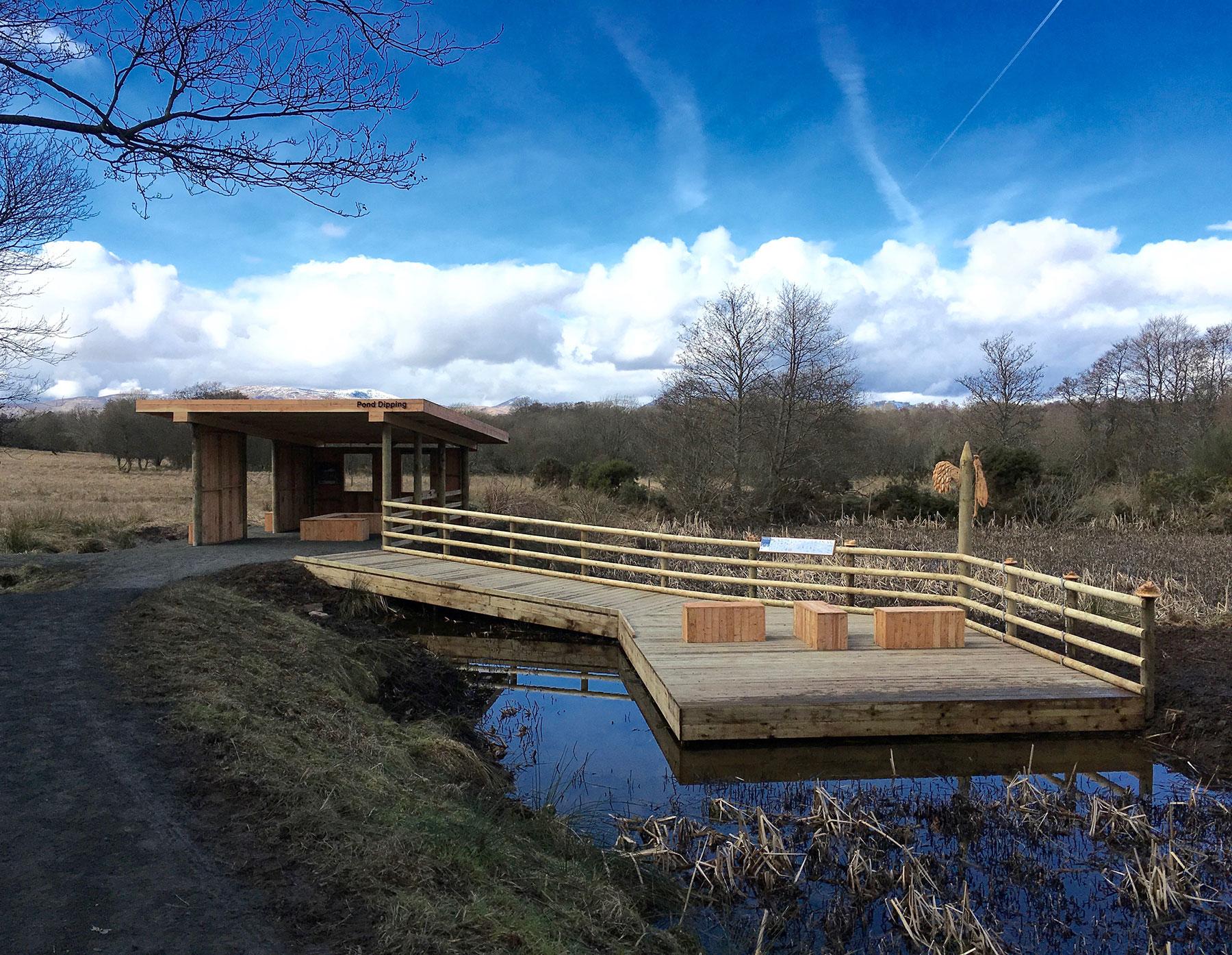 RSPB Pond Dipping Platform in Scotland