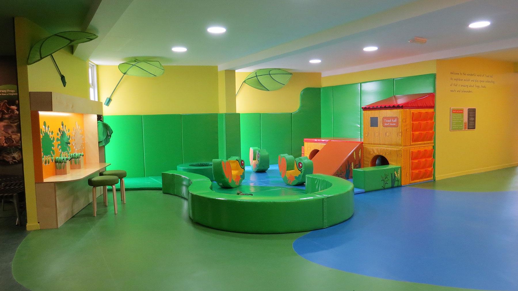 Interpretive games lounge of fun at Toad Hall