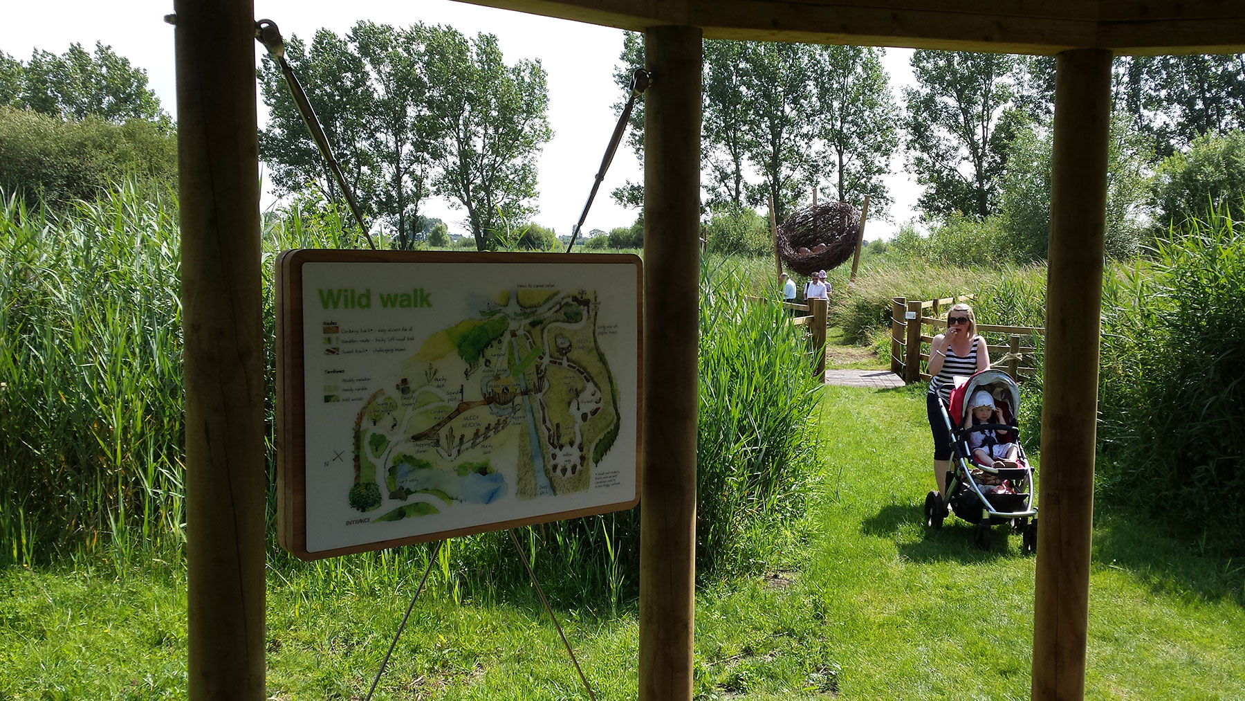 Wetland adventure trail
